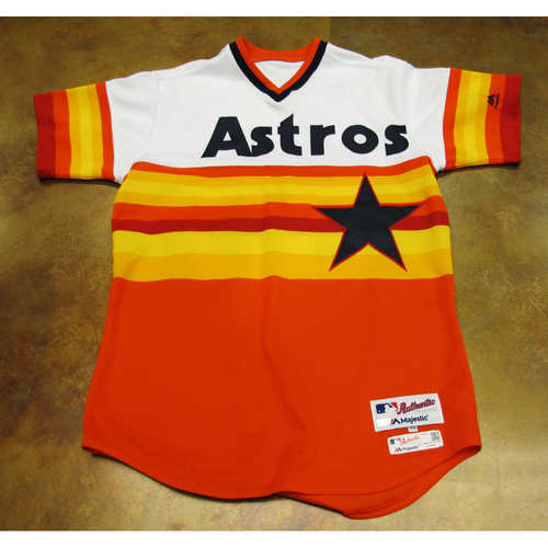 Carlos Munoz Astros Game-Used TBTC 1977 Jersey/Pants 6/24/17 Size 44