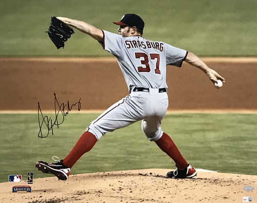 Photo of Stephen Strasburg Autographed 16x20 Photo (Pitching #2)