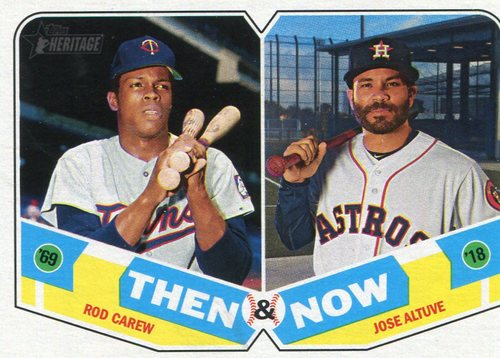 Photo of 2018 Topps Heritage Then and Now #TN9 Jose Altuve/Rod Carew