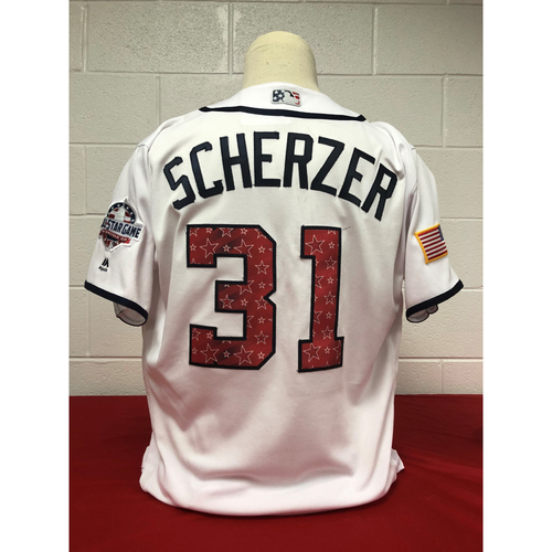 Photo of Game-Used 2018 Jersey - Max Scherzer