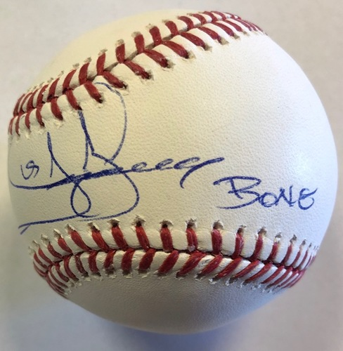 "Photo of Jay Buhner ""Bone"" Autographed Baseball"