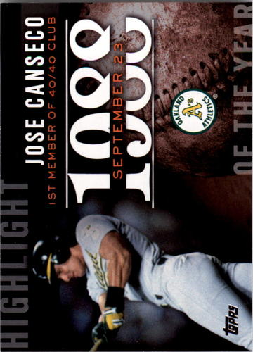 Photo of 2015 Topps Highlight of the Year #H23 Jose Canseco