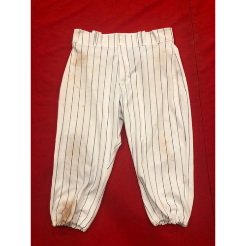 Photo of Joey Votto -- Game-Used Pants -- 1919 Throwback Game -- Nationals vs. Reds on June 2, 2019 --  Size: 35-42-20