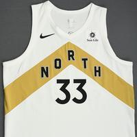 Marc Gasol - Toronto Raptors - 2018-19 Season - Game-Worn White City Edition Jersey