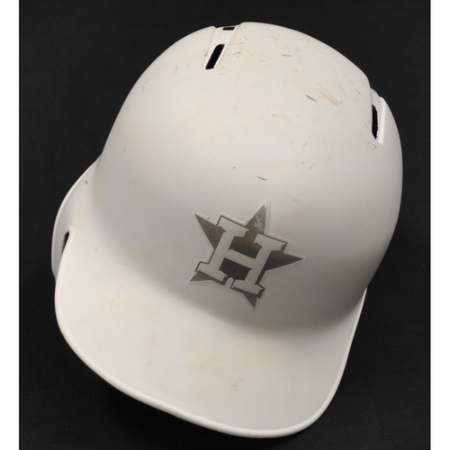 "Photo of Abraham ""TORO"" Hernandez Houston Astros Game-Used 2019 Players' Weekend Helmet"