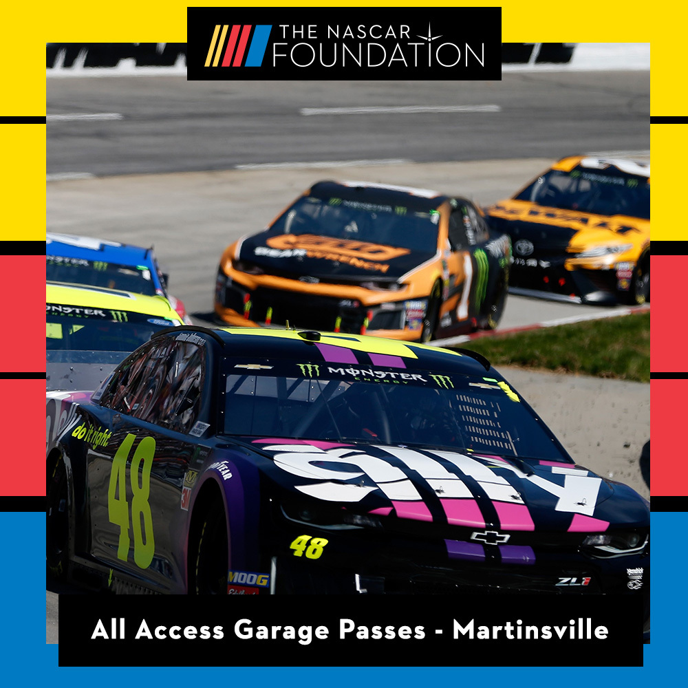 Two All Access NASCAR Garage Passes at Martinsville Speedway!