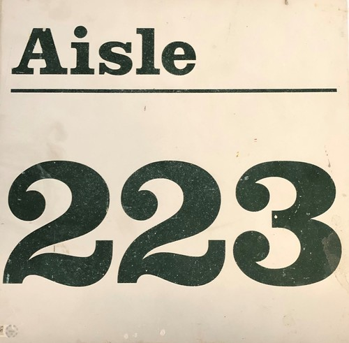 Photo of 12 Days of Auctions: Day 4 -- Wrigley Field Collection --  Aisle Marker 223