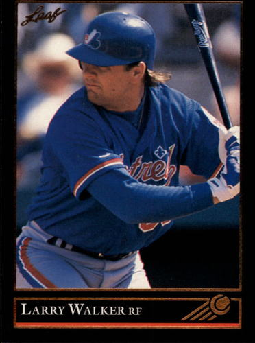 Photo of 1992 Leaf Black Gold #201 Larry Walker