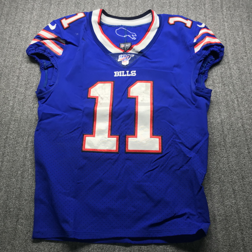 NFL Auction | Crucial Catch - Bills Zay Jones Game Used Jersey (10 ...