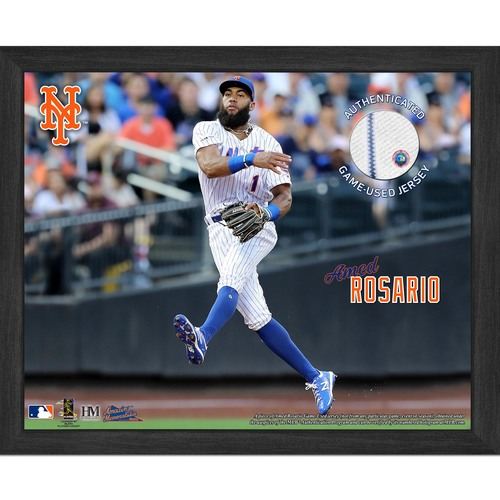 Photo of Amed Rosario Game-Used Jersey Plaque