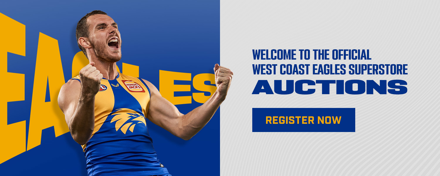 West Coast Eagles Online Auctions. Register to bid here.