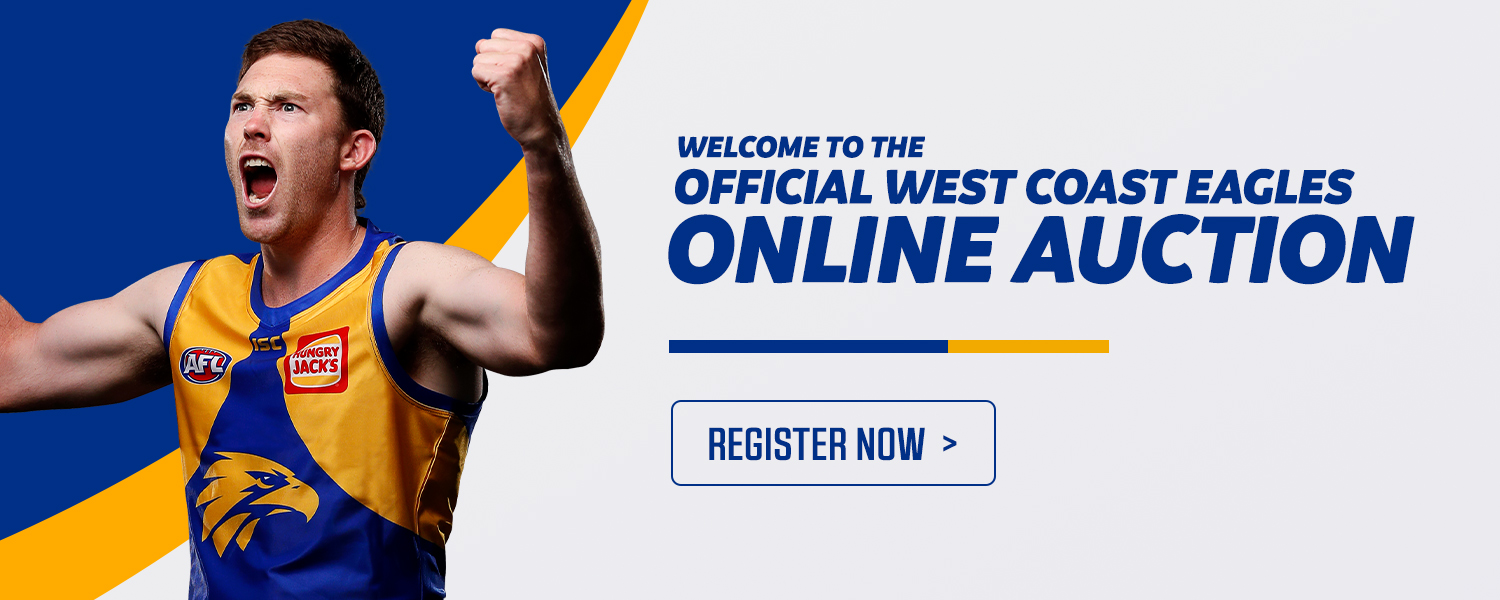 Welcome to our new site. West Coast Eagles Online Auctions. Register to bid here.