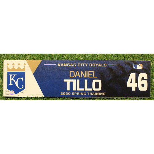 Photo of Game-Used 2020 Spring Training Locker Tag: Daniel Tillo #46
