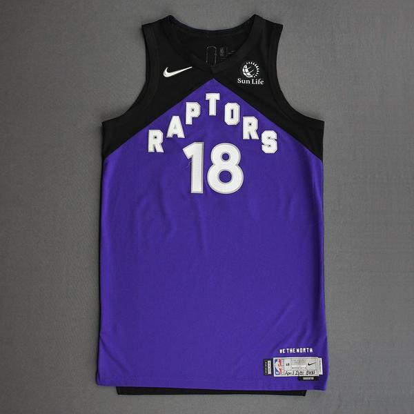Image of Yuta Watanabe - Toronto Raptors - Game-Worn Earned Edition Jersey - 2020-21 NBA Season