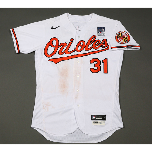 Photo of Cedric Mullins: Jersey - Game Used - Lou Gehrig Day