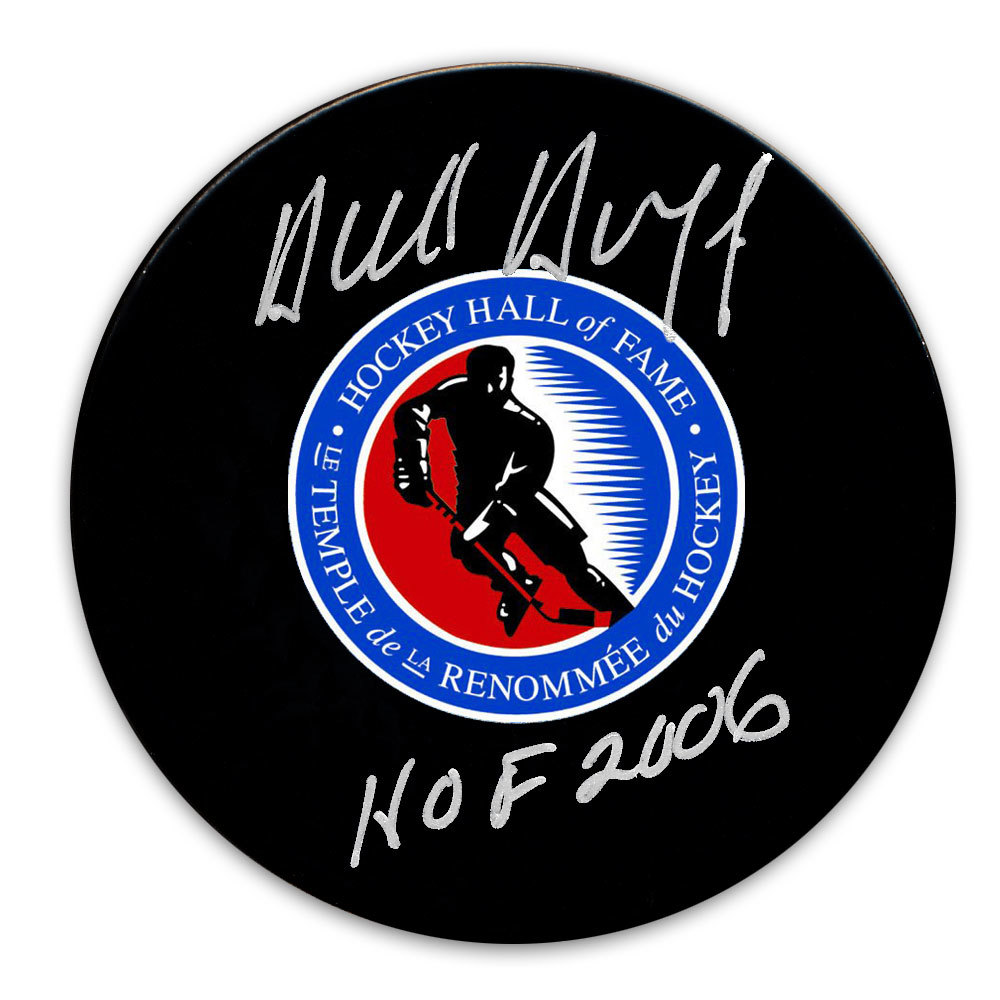 Dick Duff Hockey Hall of Fame HOF Autographed Puck