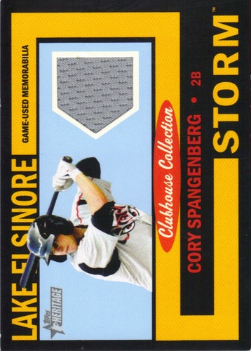 Photo of 2013 Topps Heritage Minors Clubhouse Collection Relics Black #CS Cory Spangenberg