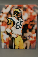 HOF - RAMS JACK YOUNGBLOOD SIGNED 16X20 CANVAS PRINT