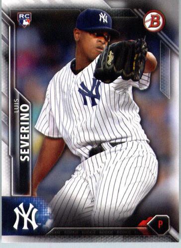 Photo of 2016 Bowman #135 Luis Severino Rookie Card -- Yankees post-season