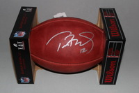 NFL - PATRIOTS TOM BRADY SIGNED AUTHENTIC FOOTBALL W/ SUPER BOWL LI LOGO