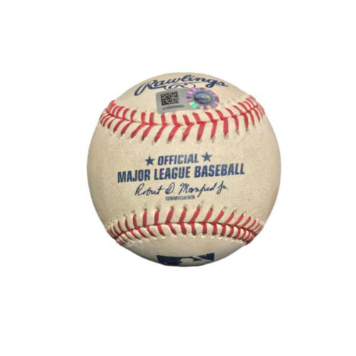 Photo of Game-Used Baseball from Pirates vs. Cardinals on 8/19/17 - Wong Ground Out, Grichuk Double, 3 Pitches to Kelly