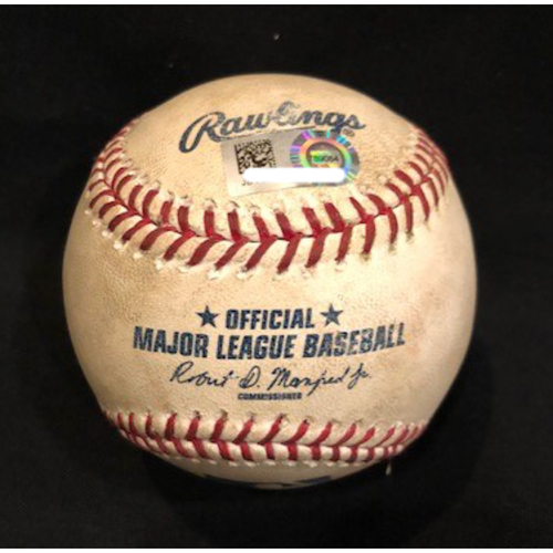 Photo of Drew Storen - Game-Used Baseball - Used During Only Save as a Red; 99th Save of His Career