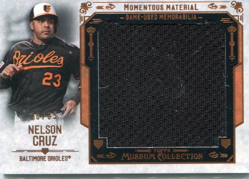 Photo of 2015 Topps Museum Collection Momentous Material Jumbo Relics Copper  Nelson Cruz