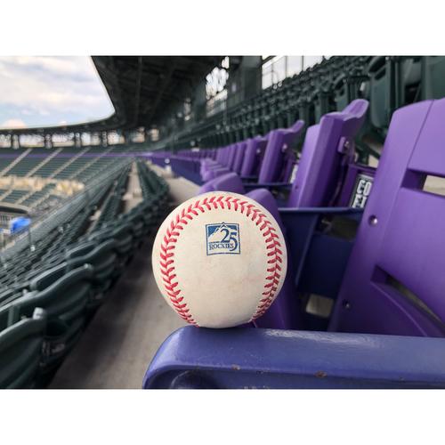 Photo of Colorado Rockies Game-Used Baseball - Familia v. Story - Swinging Strike - June 20, 2018
