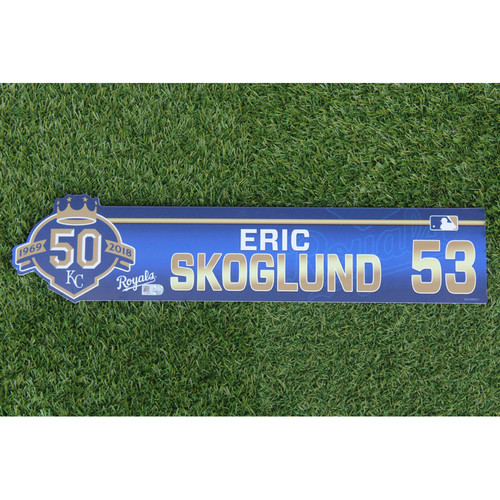 Photo of Game-Used Locker Nameplate: Eric Skoglund