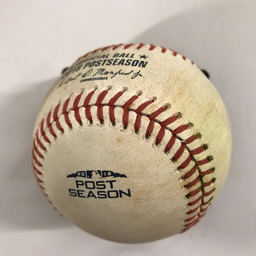 Photo of Joc Pederson Game-Used Hit Single Baseball - NLDS Game 3, 10/7/18