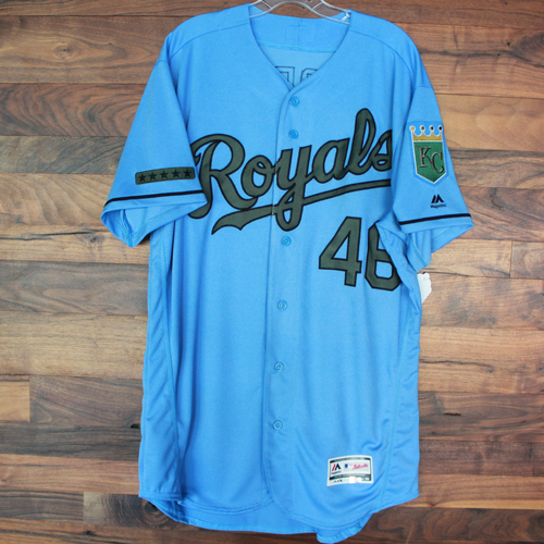 Photo of Game-Used Memorial Day Jersey: Ramon Torres 22nd Career Hit (Size 46 - MIN @ KC - 5/28/18)
