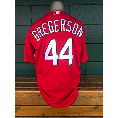 Photo of Cardinals Authentics: Team Issued Luke Gregerson Red 2019 Spring Training Jersey
