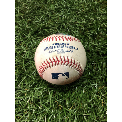 Photo of Game Used Baseball: Brandon Lowe 2RBI single off Martin Perez - May 30, 2019 v MIN
