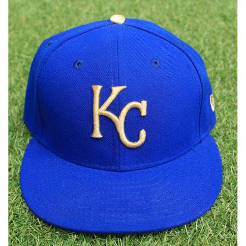 Photo of Game-Used Cap: Brandon Moss (Size 7 1/8 - ARI @ KC - 9/29/17)
