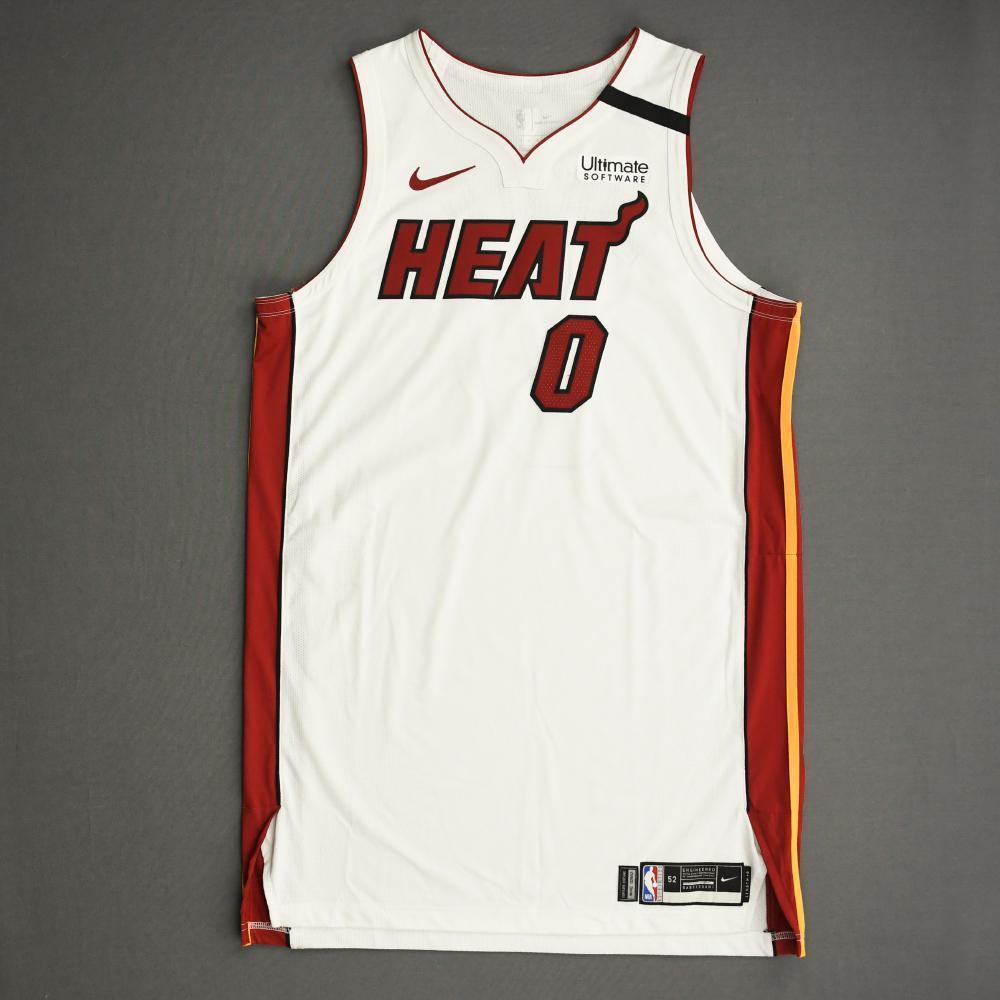Meyers Leonard - Miami Heat - Game-Worn Association Edition Jersey - Dressed, Did Not Play (DNP) - 2019-20 NBA Season Restart with Social Justice Message