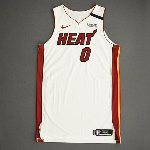 Image of Meyers Leonard - Miami Heat - Game-Worn Association Edition Jersey - Dressed, Did Not Play (DNP) - 2019-20 NBA Season Restart with Social Justice M...