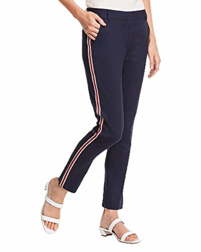 Photo of Aqua Women's Track Stripe Straight-Leg Pants