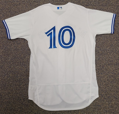 Photo of Authenticated Team Issued 2020 Summer Training Camp Jersey: #10 Reese McGuire. Size 46.