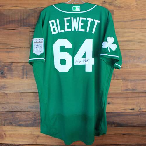 Photo of Autographed 2020 St. Patrick's Day Jersey: Scott Blewett #64 - Size 48
