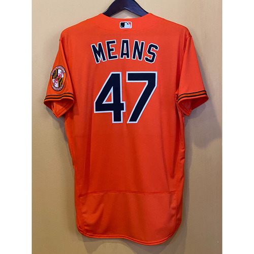 Photo of John Means:  Jersey - Team-Issued