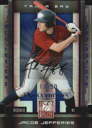 Photo of 2008 Donruss Elite Extra Edition Signature Aspirations #127 Jacob Jefferies/50