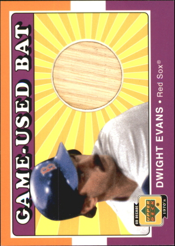Photo of 2001 Upper Deck Decade 1970's Game Bat #BDWE Dwight Evans