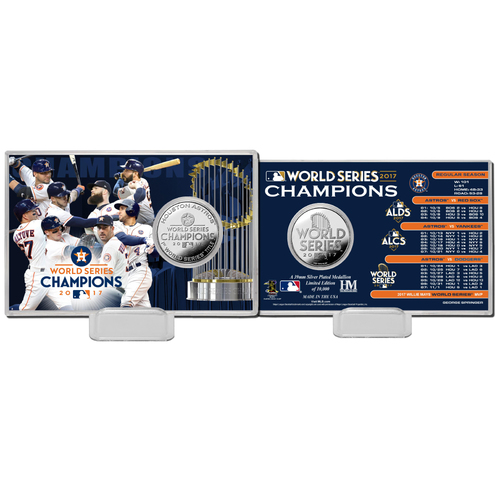 Photo of Houston Astros 2017 World Series Champions Silver Coin Card