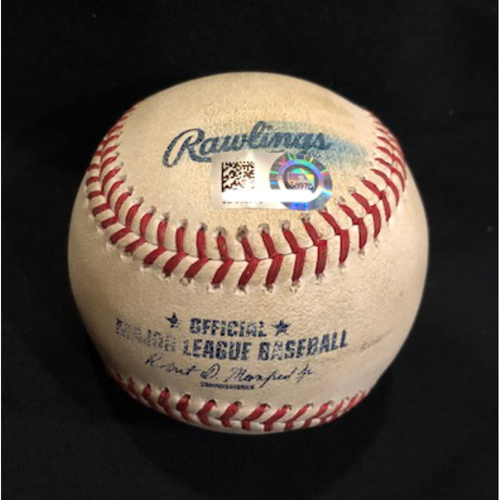 Photo of Eugenio Suarez - Game-Used Baseball - Suarez 76th Hit of 2017 Season