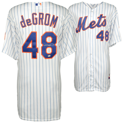 Photo of Jacob deGrom New York Mets Autographed White Authentic Jersey