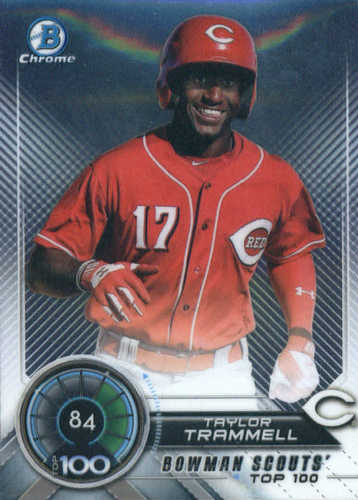 Photo of 2018 Bowman Chrome Scouts Top 100 #BTP84 Taylor Trammell