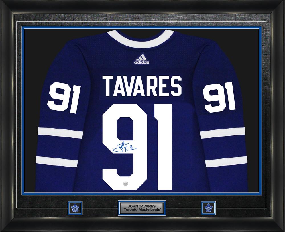 John Tavares Signed Jersey Framed Pro Adidas Toronto Maple Leafs Blue