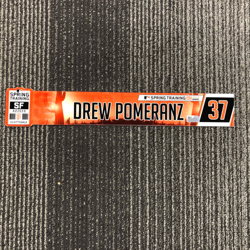 Photo of 2019 Spring Training Game-Used Locker Tag - #37 Drew Pomeranz
