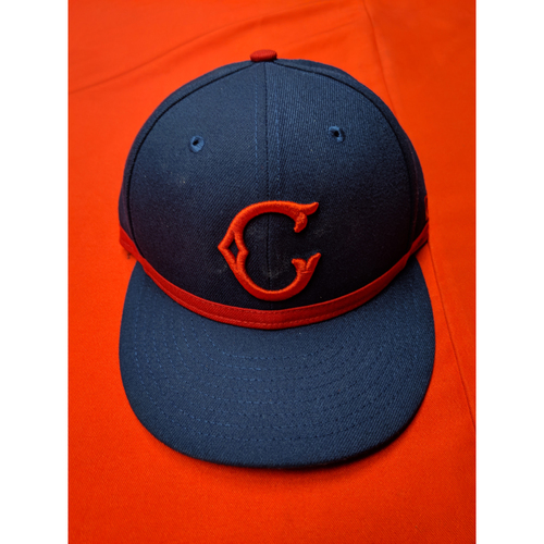 Photo of Derek Johnson -- Game-Used Cap -- 1911 Throwback worn 5/5/19