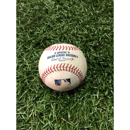 Photo of Game Used Baseball: Eddie Rosario 2RBI single off Adam Kolarek - May 31, 2019 v MIN
